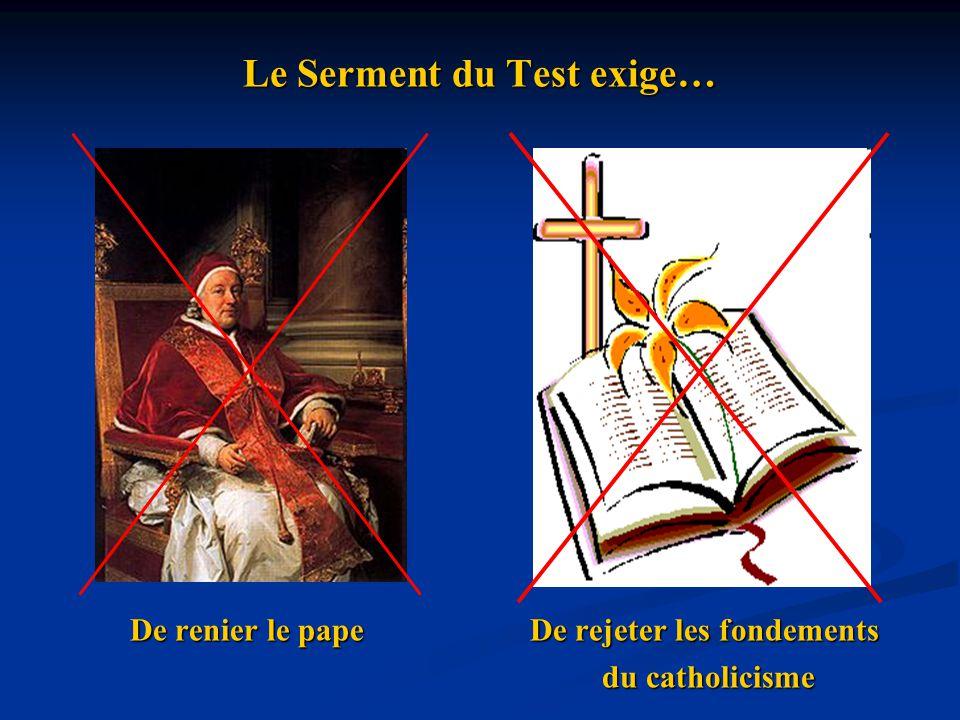 Le Serment du Test exige…