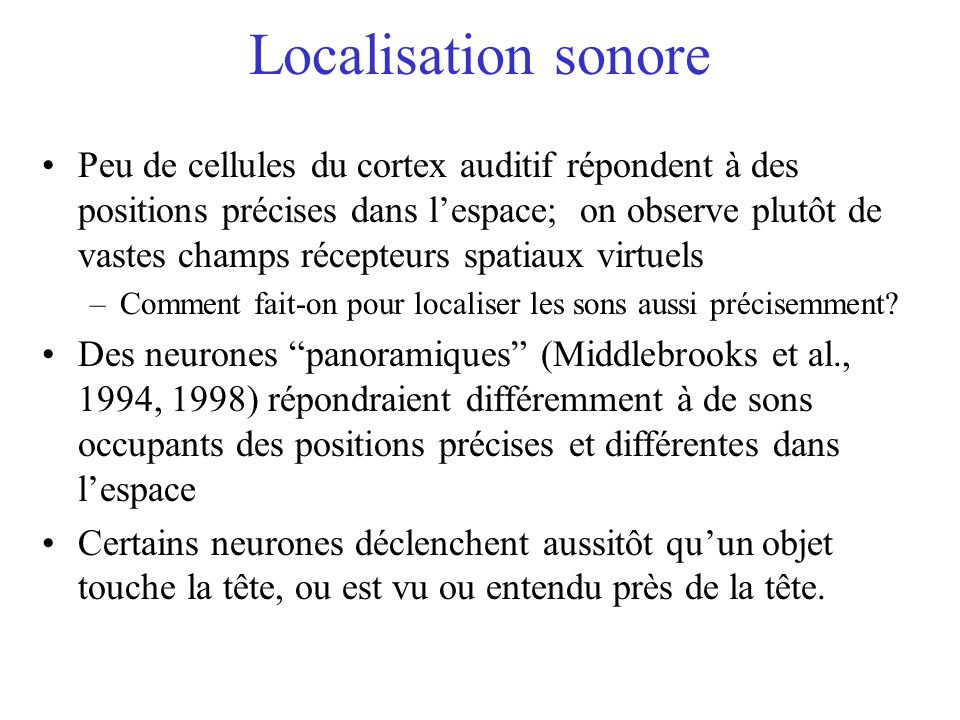 Localisation sonore
