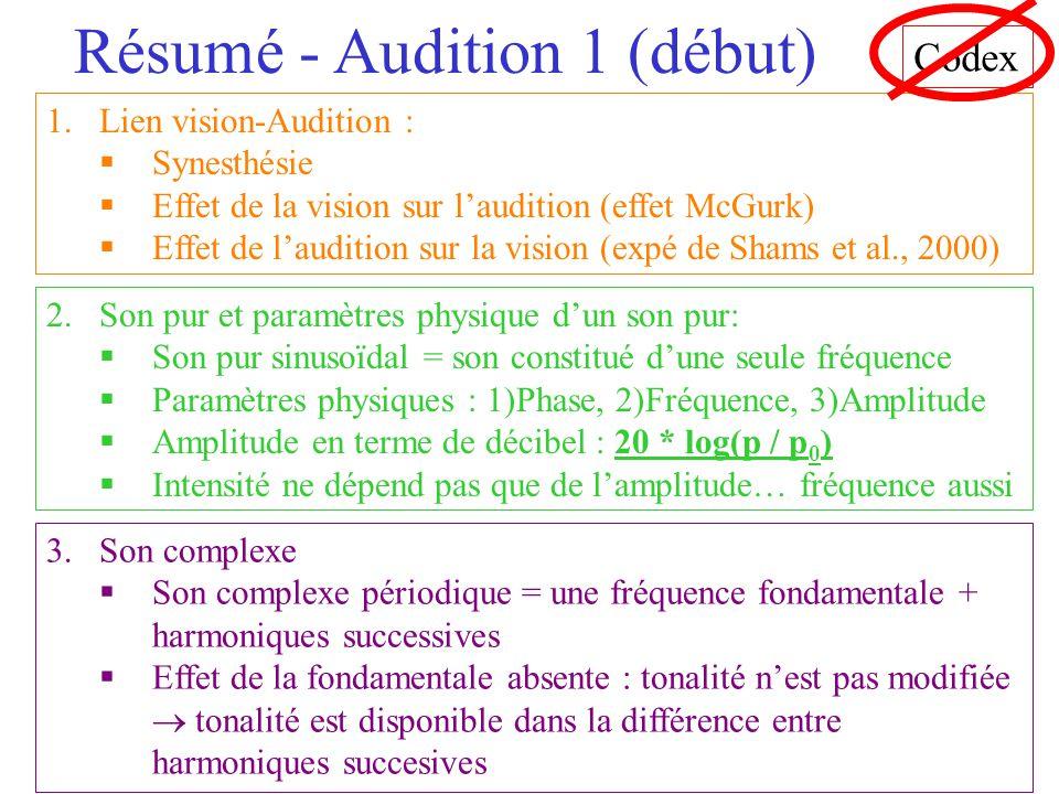 Résumé - Audition 1 (début)
