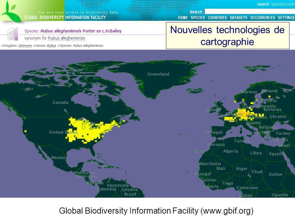 Nouvelles technologies de cartographie
