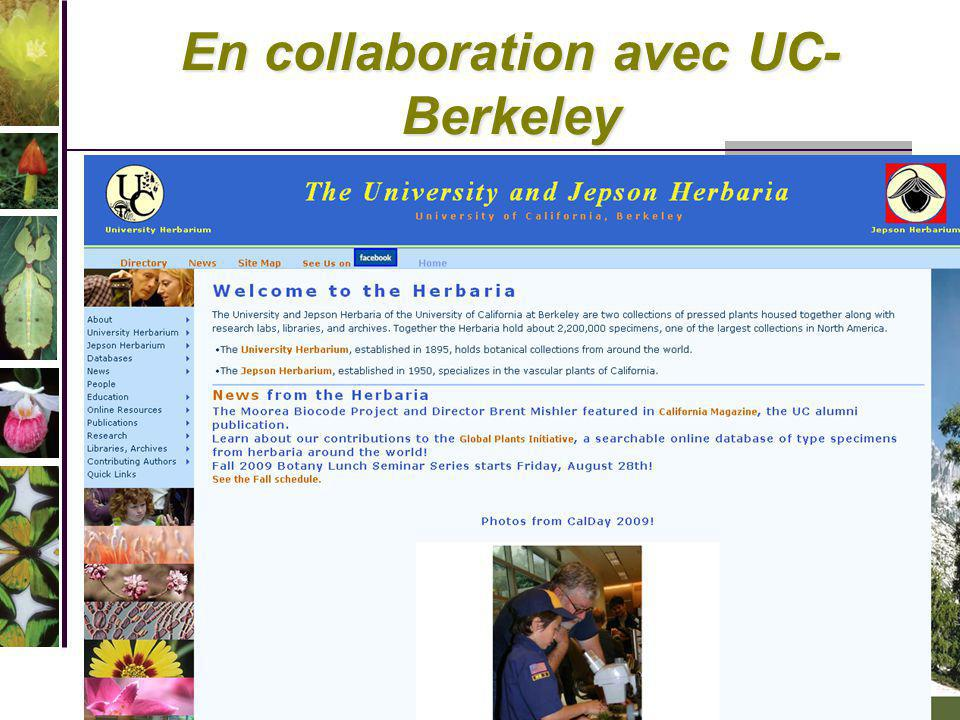 En collaboration avec UC-Berkeley