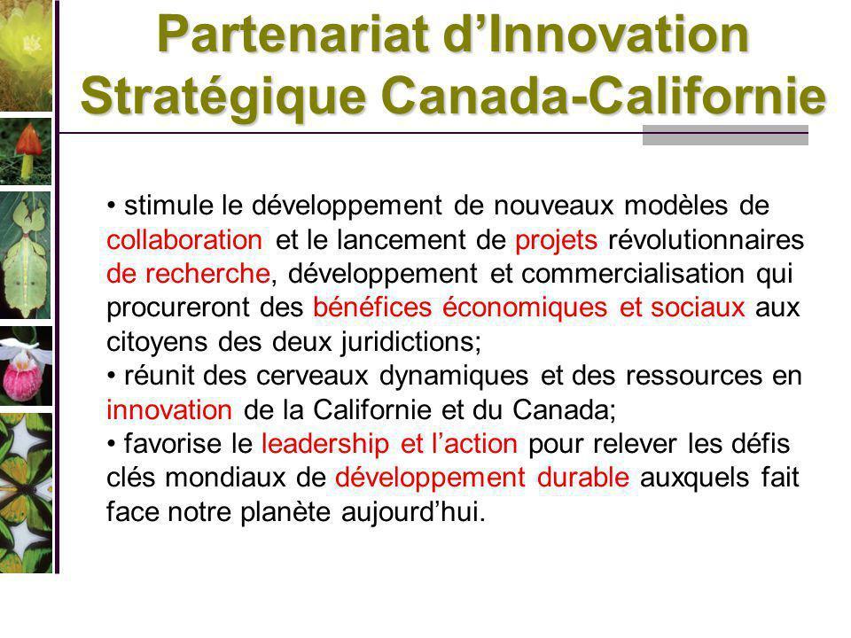 Partenariat d'Innovation Stratégique Canada-Californie