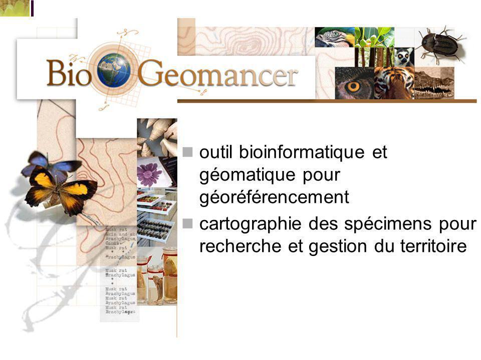 outil bioinformatique et géomatique pour géoréférencement