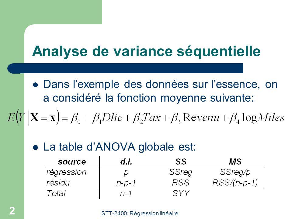 Analyse de variance séquentielle
