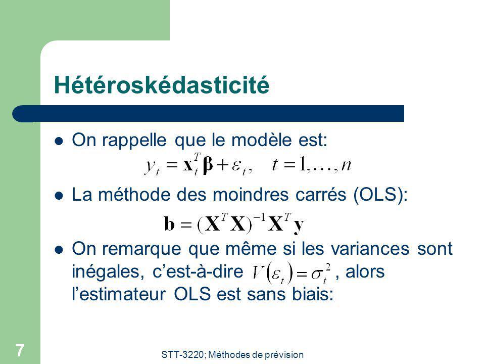 STT-3220; Méthodes de prévision