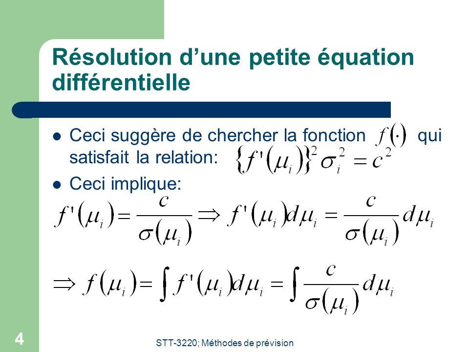 Résolution d'une petite équation différentielle