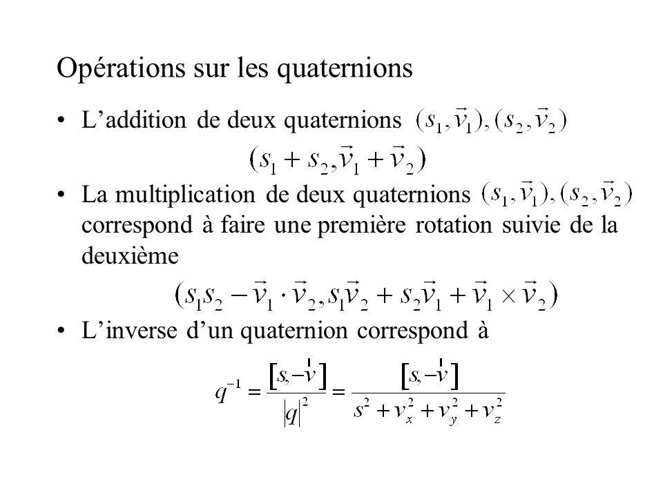 Opérations sur les quaternions