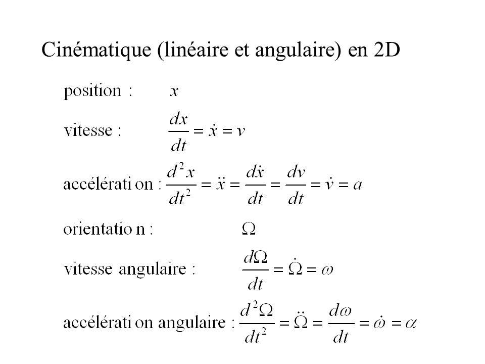 Cinématique (linéaire et angulaire) en 2D