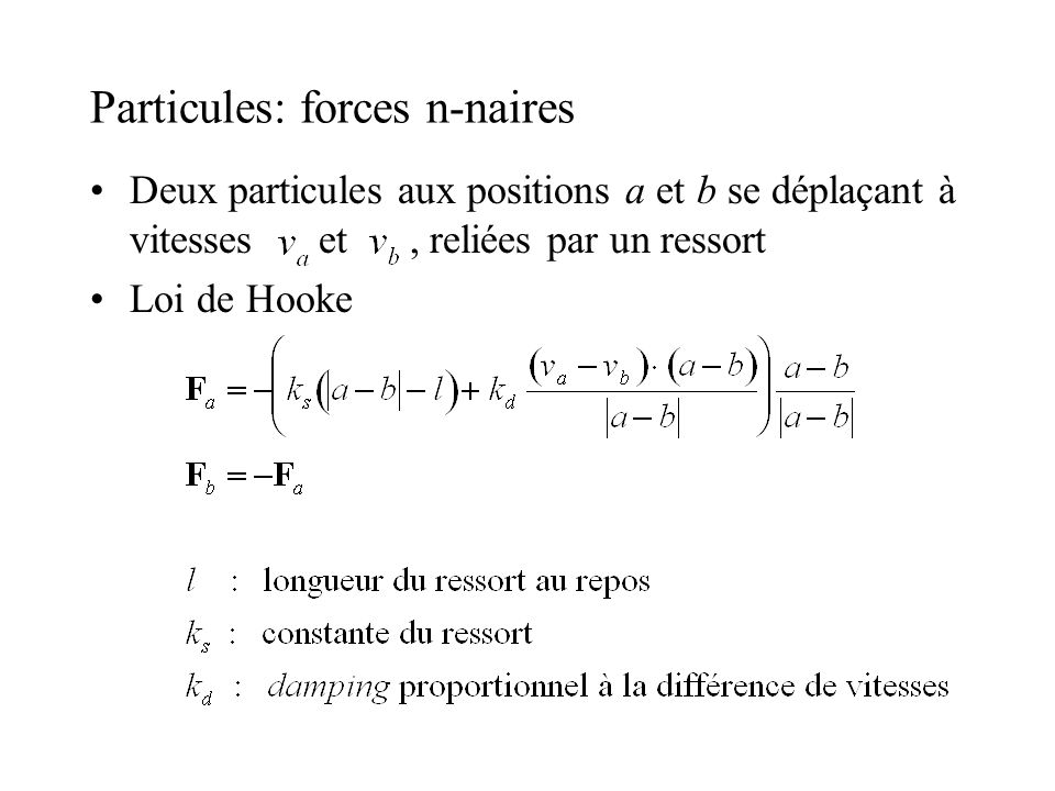 Particules: forces n-naires
