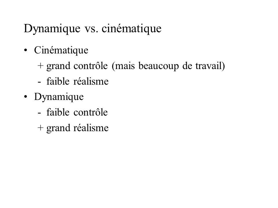 Dynamique vs. cinématique