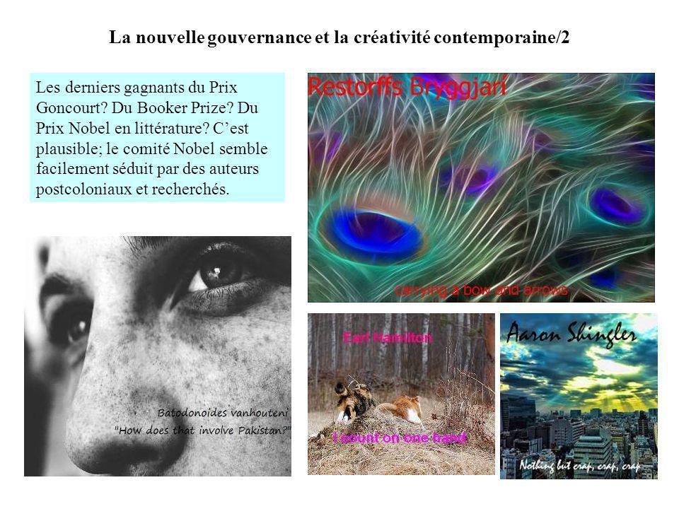 La nouvelle gouvernance et la créativité contemporaine/2