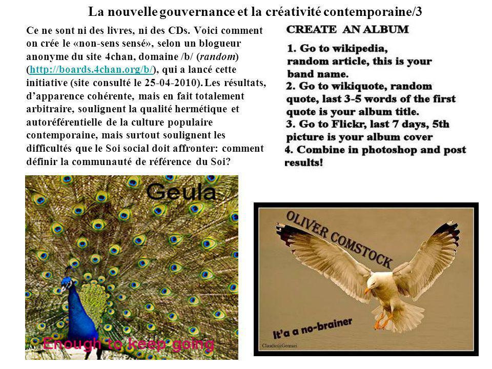La nouvelle gouvernance et la créativité contemporaine/3