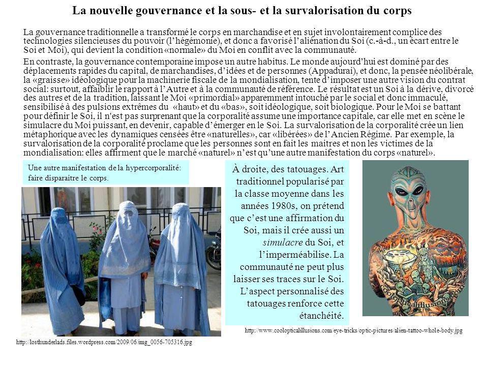 La nouvelle gouvernance et la sous- et la survalorisation du corps