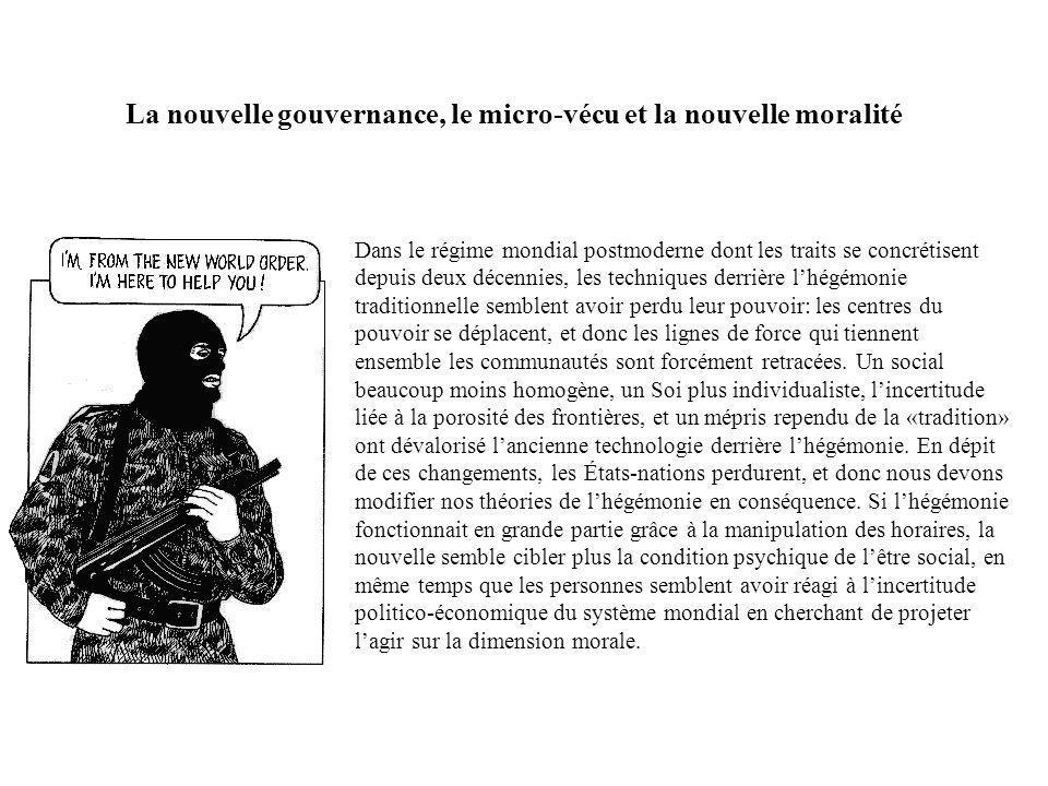 La nouvelle gouvernance, le micro-vécu et la nouvelle moralité