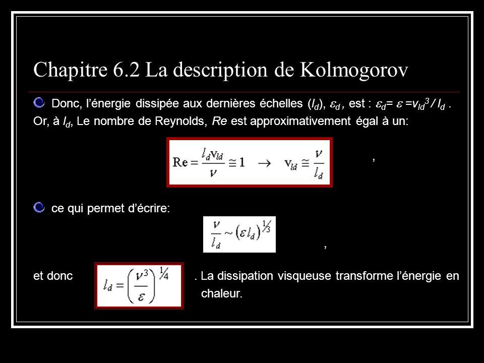 Chapitre 6.2 La description de Kolmogorov