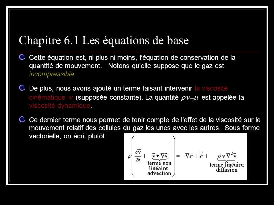Chapitre 6.1 Les équations de base