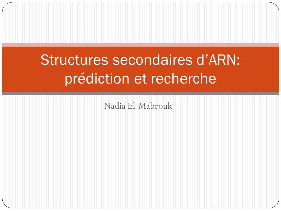 Structures secondaires d'ARN: prédiction et recherche