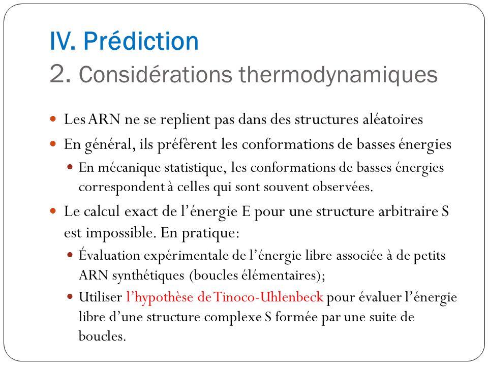 IV. Prédiction 2. Considérations thermodynamiques