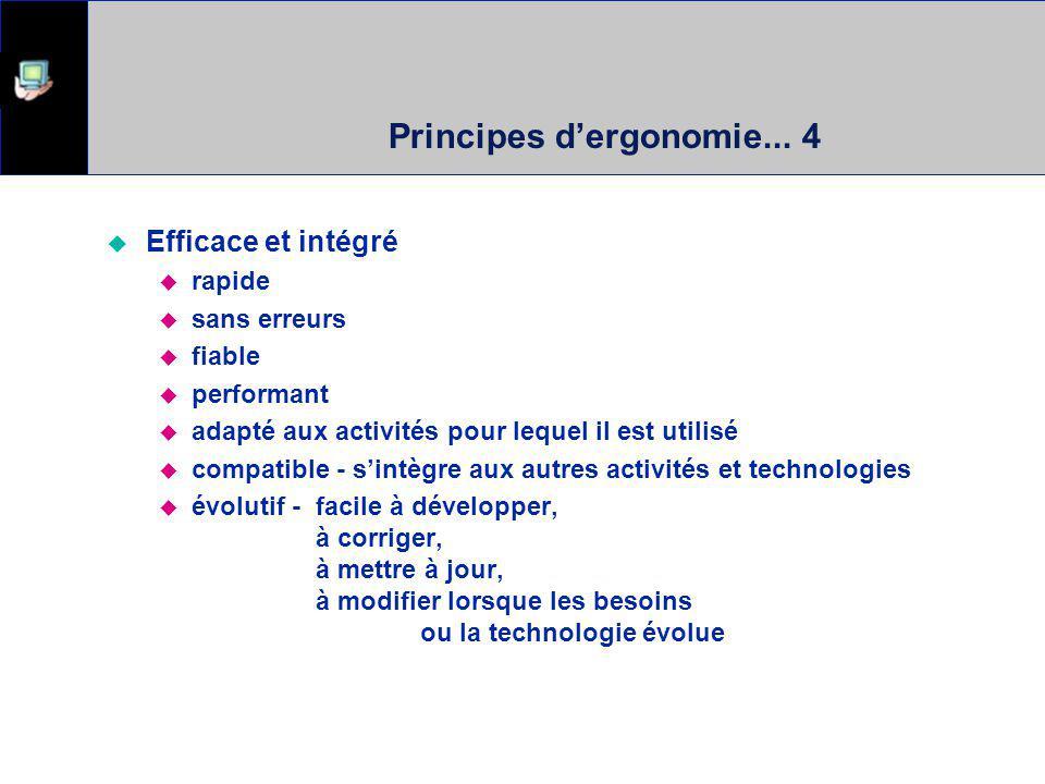 Principes d'ergonomie... 4