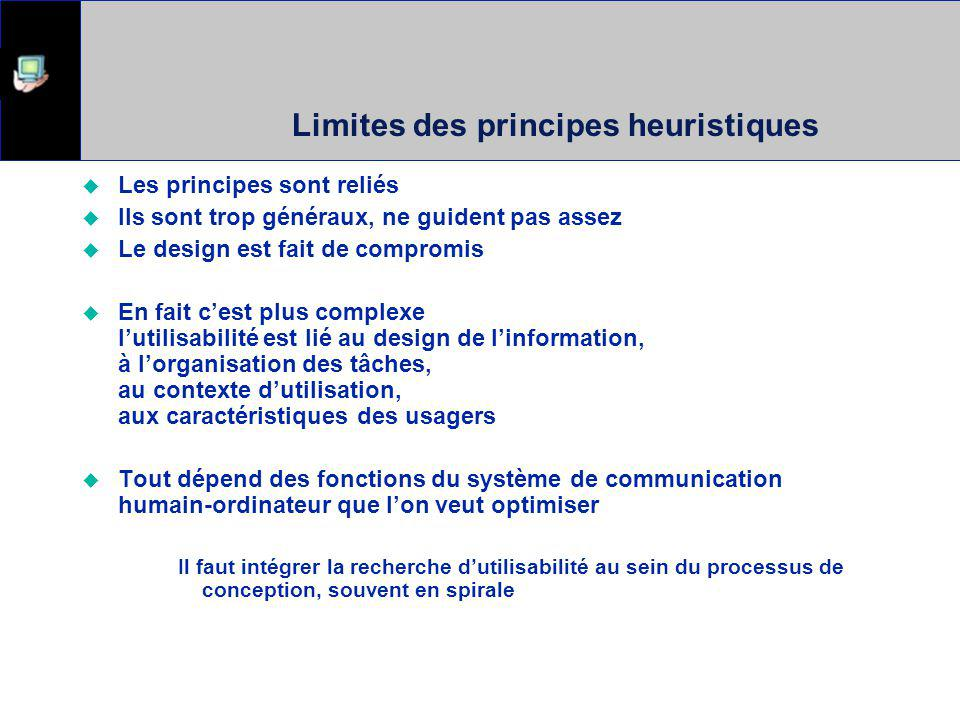 Limites des principes heuristiques