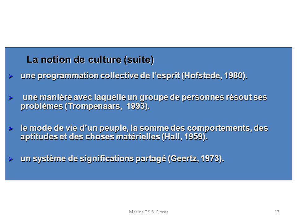 La notion de culture (suite)
