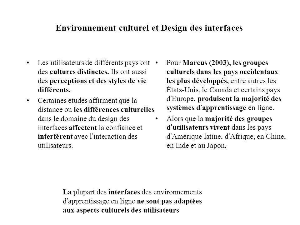 Environnement culturel et Design des interfaces