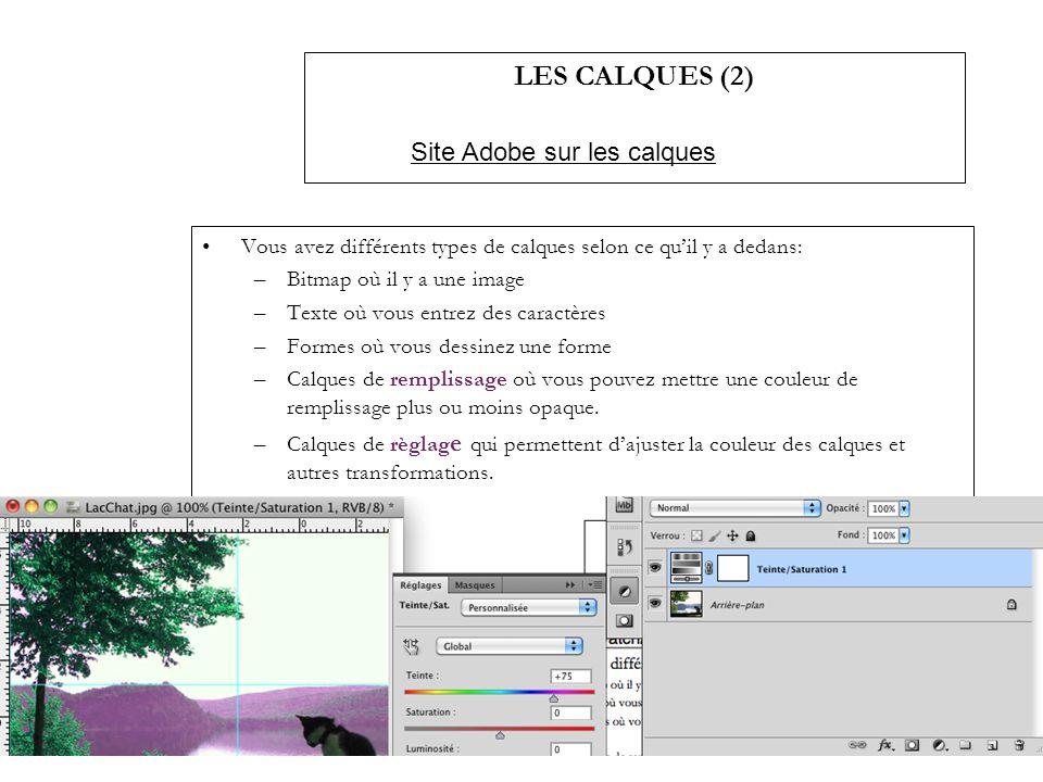 LES CALQUES (2) Site Adobe sur les calques