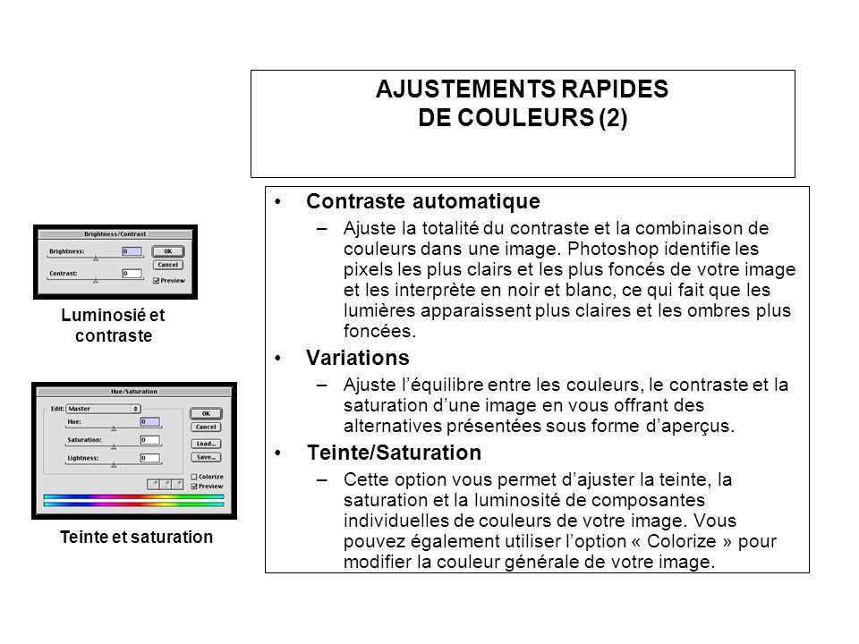 AJUSTEMENTS RAPIDES DE COULEURS (2)
