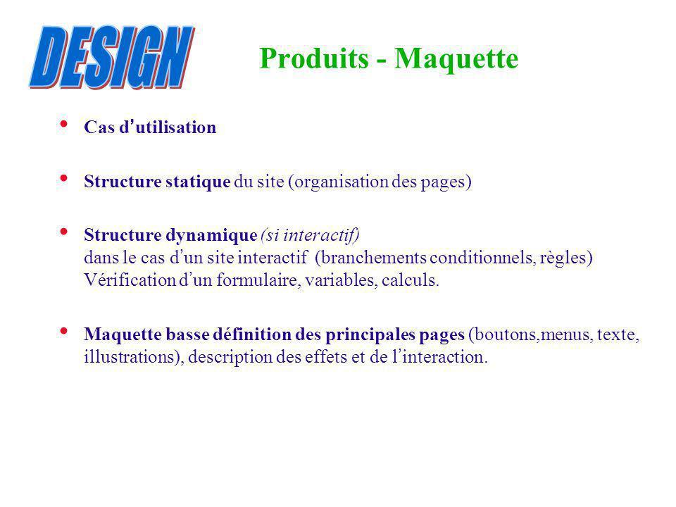 DESIGN Produits - Maquette Cas d'utilisation