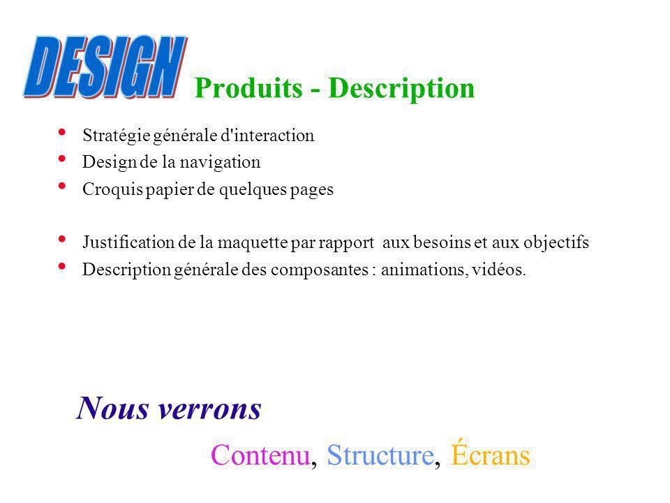 Produits - Description