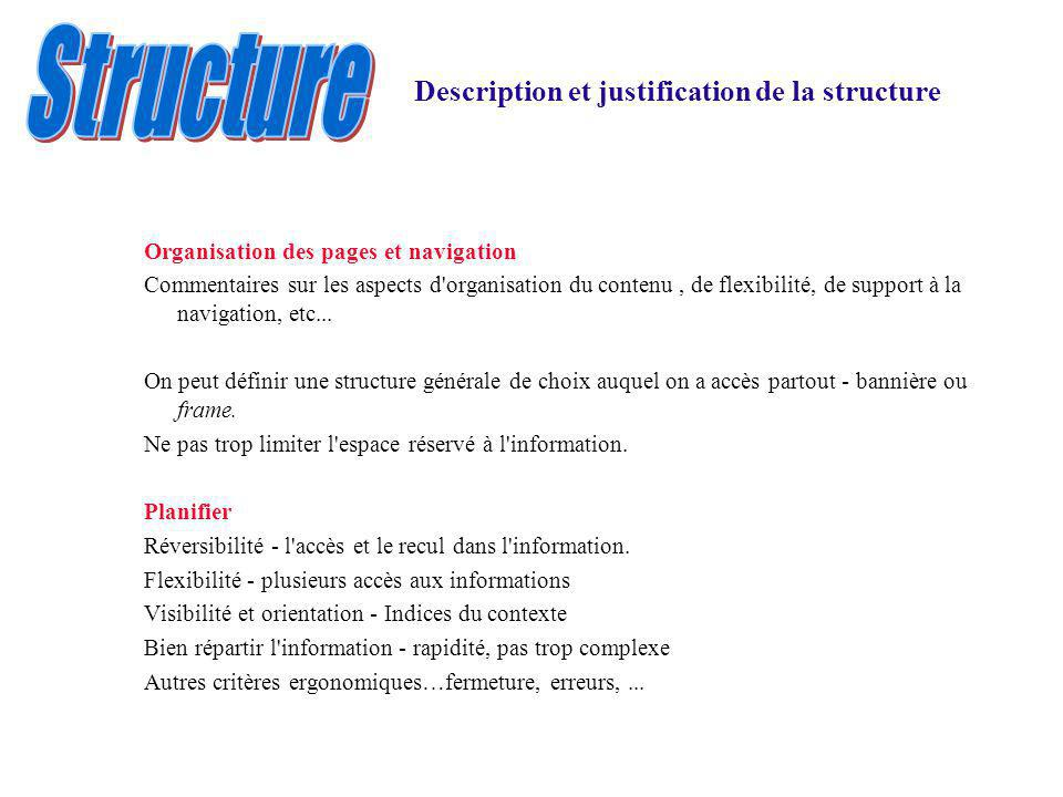 Structure Description et justification de la structure