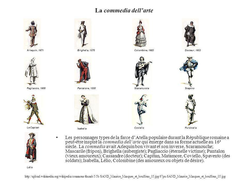 La commedia dell'arte Arlequin, 1671.