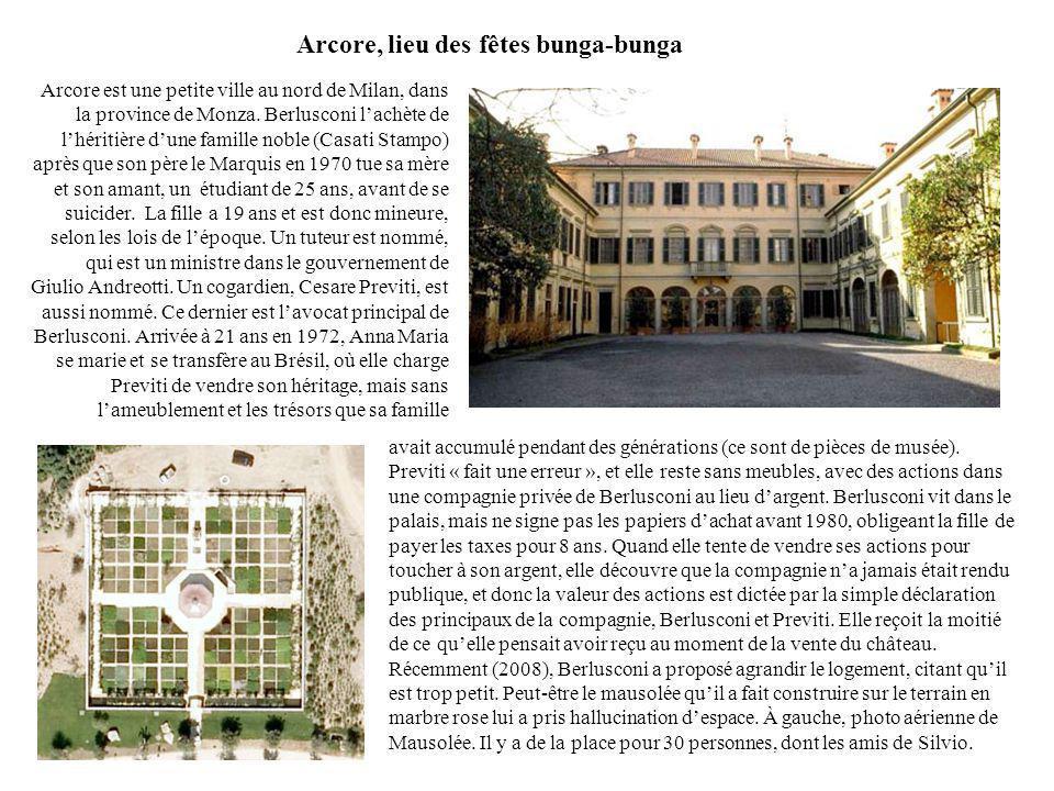 Arcore, lieu des fêtes bunga-bunga