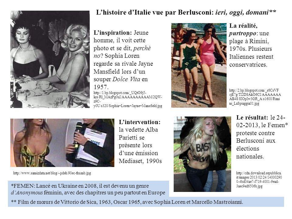 L'histoire d'Italie vue par Berlusconi: ieri, oggi, domani**