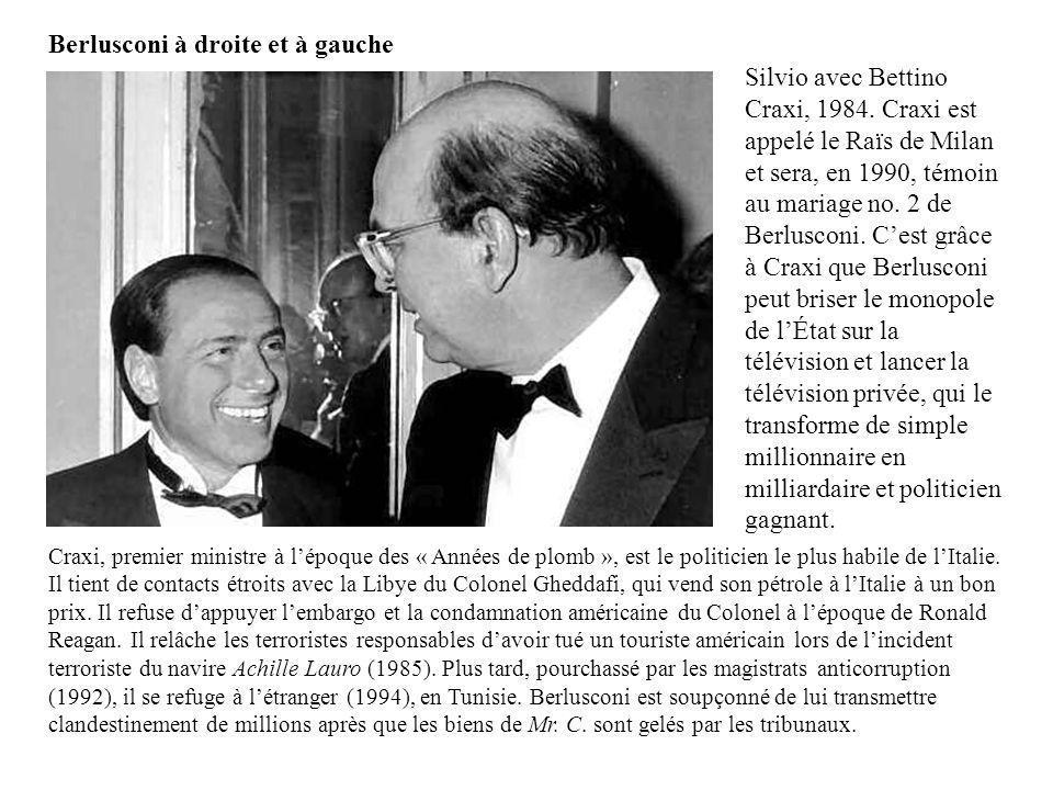 Berlusconi à droite et à gauche