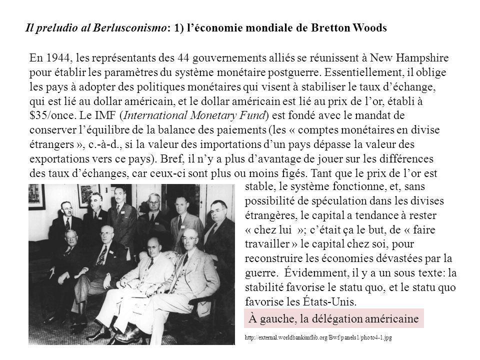 Il preludio al Berlusconismo: 1) l'économie mondiale de Bretton Woods