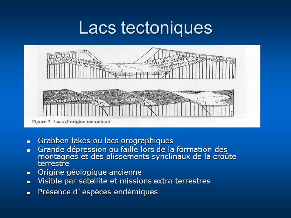 Lacs tectoniques Grabben lakes ou lacs orographiques