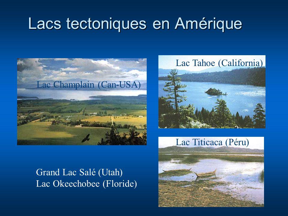 Lacs tectoniques en Amérique