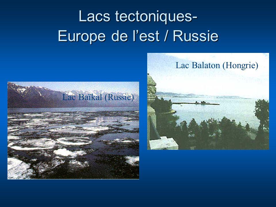 Lacs tectoniques- Europe de l'est / Russie