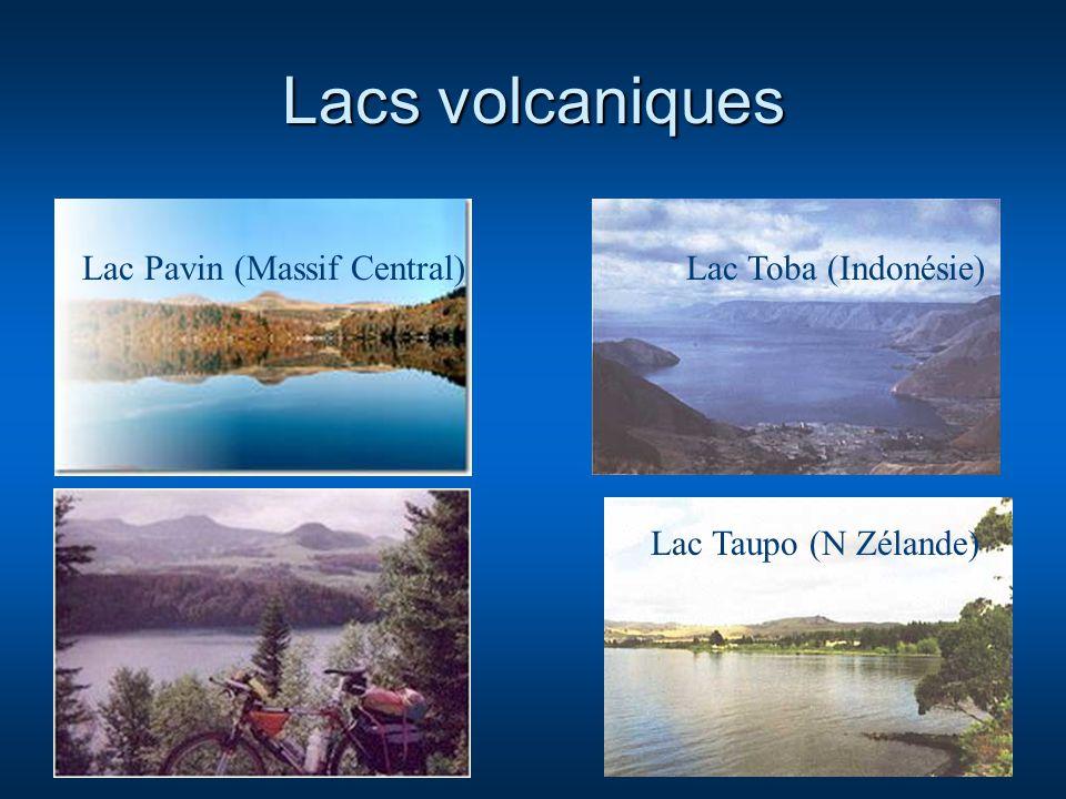 Lacs volcaniques Lac Pavin (Massif Central) Lac Toba (Indonésie)