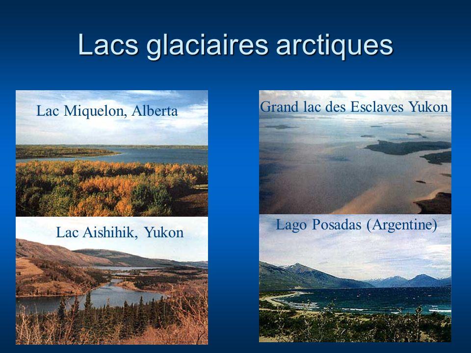 Lacs glaciaires arctiques