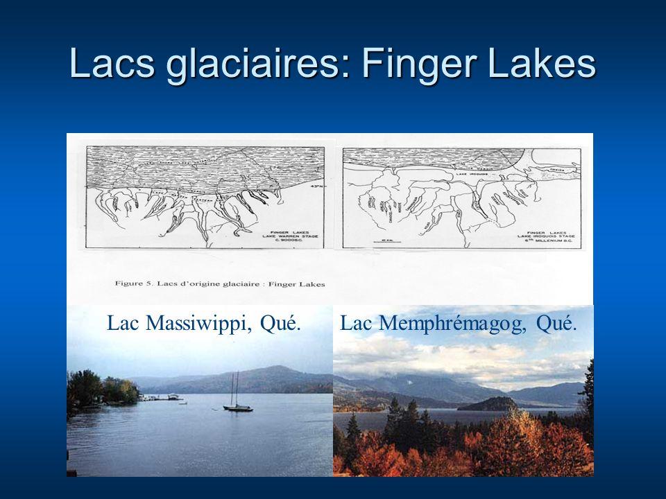 Lacs glaciaires: Finger Lakes