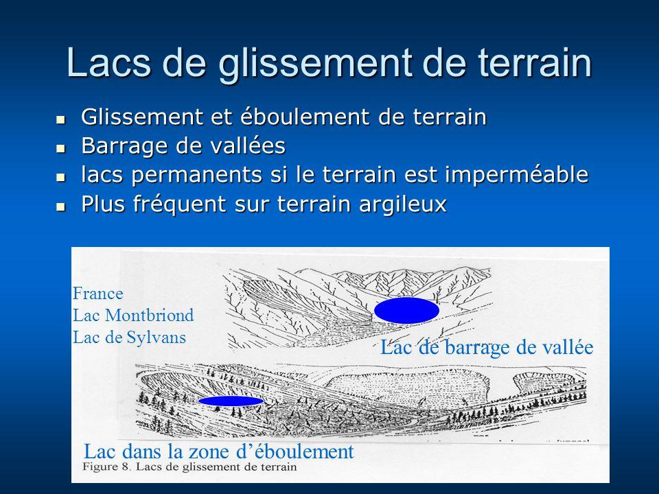 Lacs de glissement de terrain