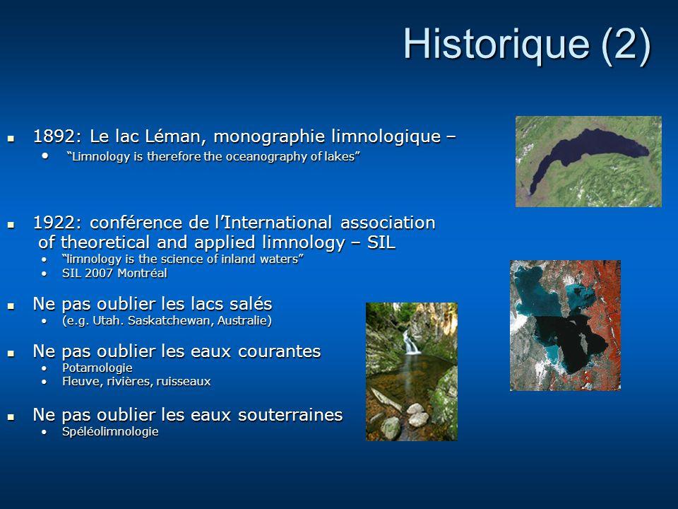 Historique (2) 1892: Le lac Léman, monographie limnologique –