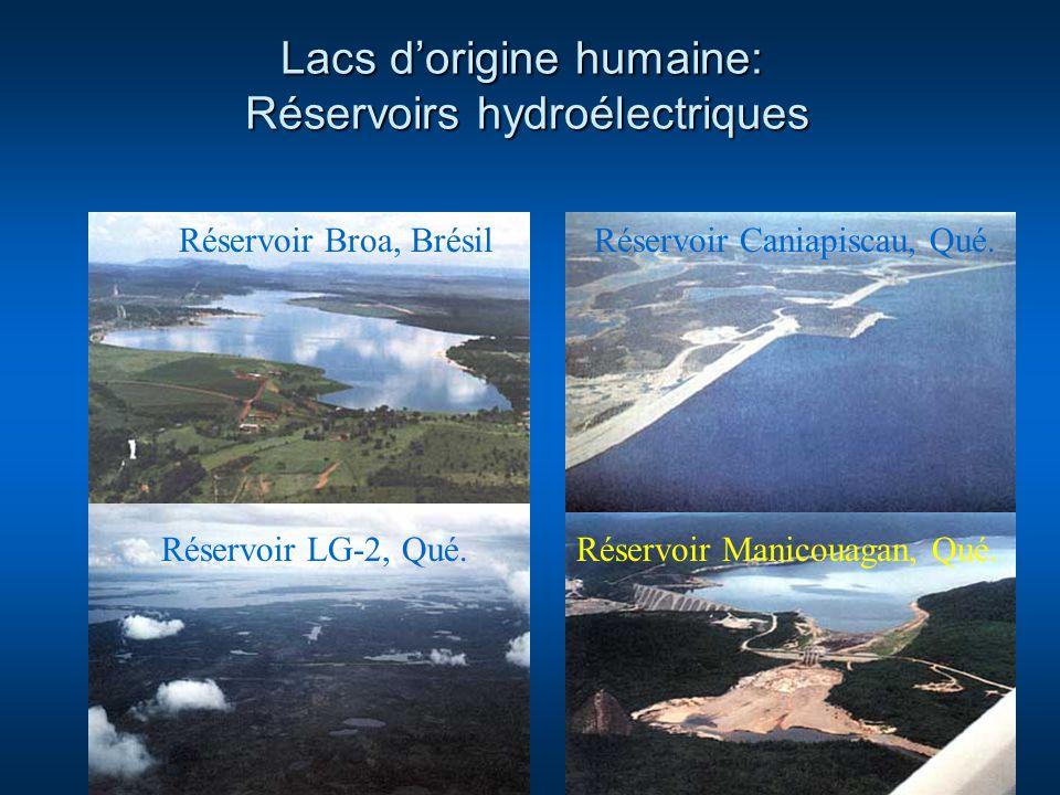 Lacs d'origine humaine: Réservoirs hydroélectriques