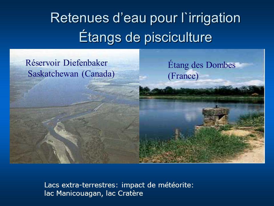 Retenues d'eau pour l`irrigation Étangs de pisciculture