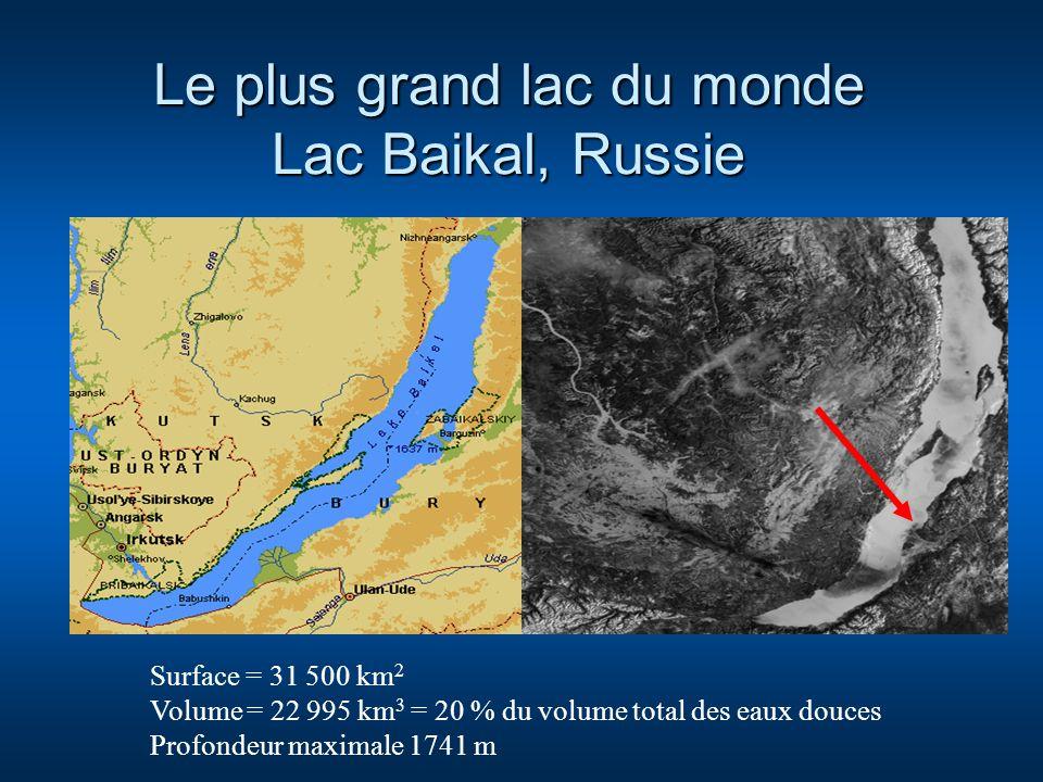 Le plus grand lac du monde Lac Baikal, Russie
