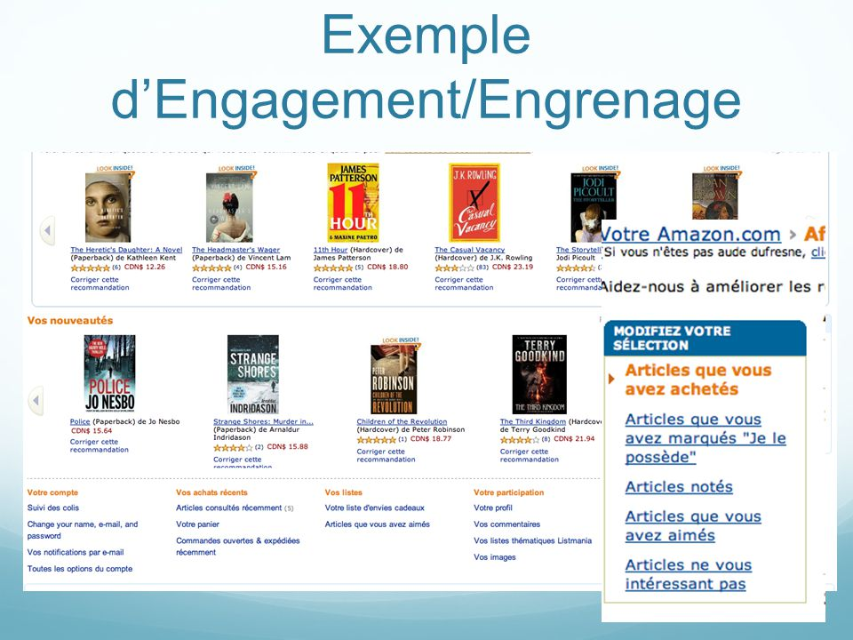 Exemple d'Engagement/Engrenage