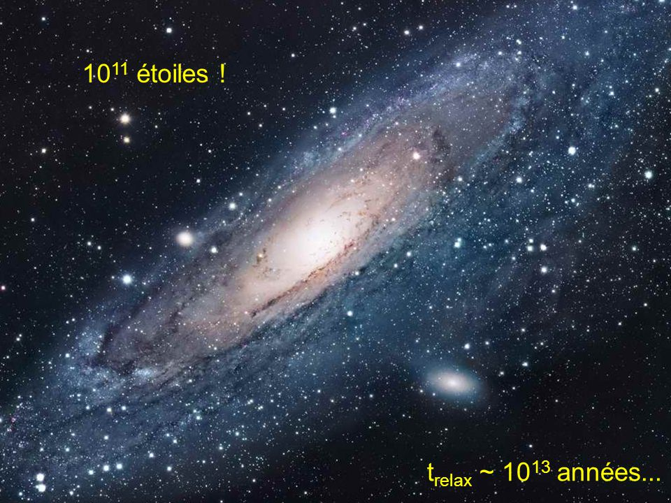 1011 étoiles ! trelax ~ 1013 années...