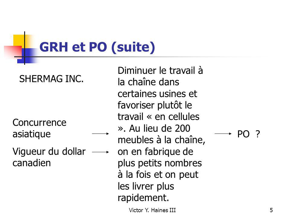 GRH et PO (suite)